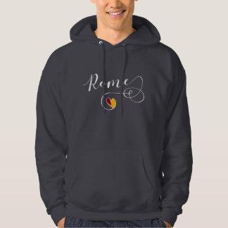 Rom-Herz-Sweatshirt, Italien, römische Flagge Hoodie