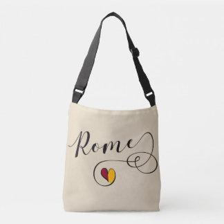 Rom-Herz-Tasche, Italien, römische Flagge Tragetaschen Mit Langen Trägern
