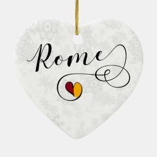 Rom-Herz, Weihnachtsbaum-Verzierung, Italien Keramik Ornament