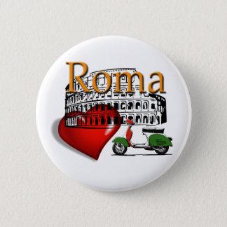 Rom in my Heart Runder Button 5,7 Cm