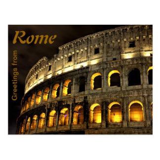 Rom - Kolosseum nachts Postkarten