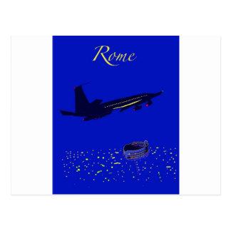 Rom nachts postkarte