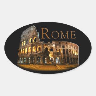 Rom Ovaler Aufkleber