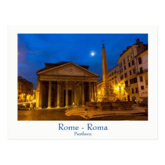 Rom - Pantheon an der Vollmondpostkarte mit Text Postkarten