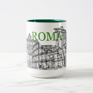 Rom-Reiseandenken-Kaffee-Tasse Zweifarbige Tasse