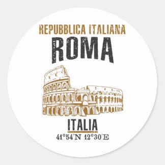Rom Runder Aufkleber