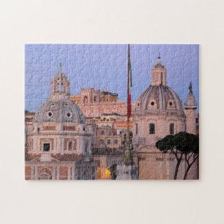Rom-Skyline am Sonnenuntergang Puzzle