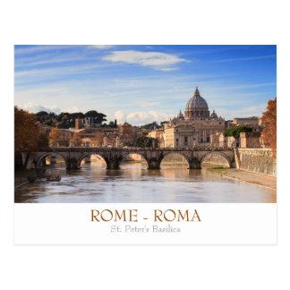 Rom- - St Peterbasilikapostkarte mit Text Postkarten