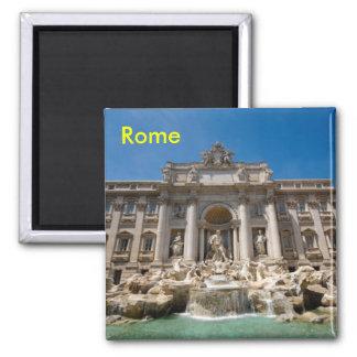 Rom-Trevi-Brunnen Quadratischer Magnet