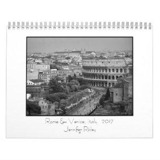 Rom u. Venedig, Italien - Kalender 2017