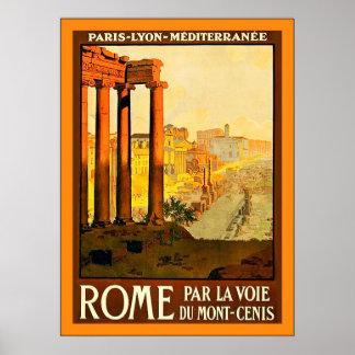 Rom ~ Vintages italienisches Reise-Plakat