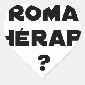 Roma Therapie - Wortspiele - Francois Ville Herz-Aufkleber