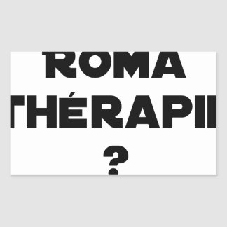 Roma Therapie - Wortspiele - Francois Ville Rechteckiger Aufkleber