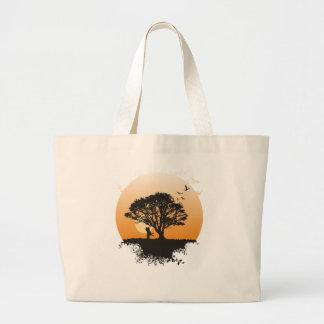 Romance Baum Jumbo Stoffbeutel
