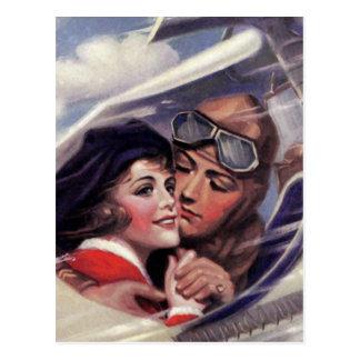 Romance im Himmel Postkarte