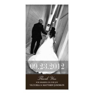 ROMANCE IN SCHWARZEM WEDDING %PIPE% DANKEN IHNEN Z PHOTO KARTEN VORLAGE