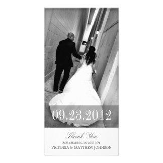 ROMANCE IN WEISS WEDDING %PIPE% DANKEN IHNEN ZU INDIVIDUELLE PHOTO KARTE