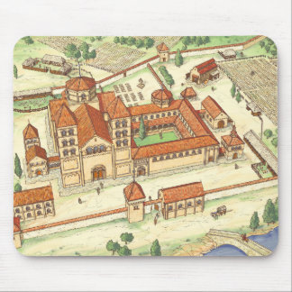 Romanesque-Abtei. Modell Mauspad