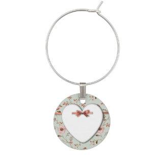 RomanticCharm Vintage Blumen-Hochzeitssammlung Glasmarker
