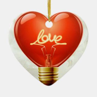 Romantisch leuchten Sie meiner Leben-Verzierung Keramik Herz-Ornament