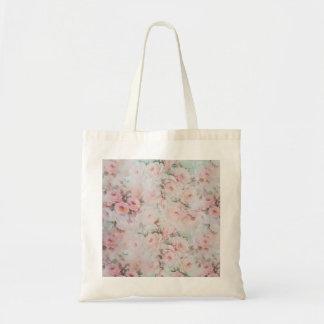 Romantische aquamarine elegante Rosen-Blumen des Tragetasche