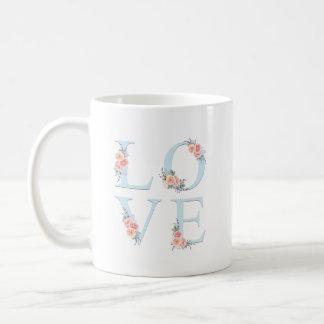 Romantische BlumenLiebe in der Blüte Kaffeetasse