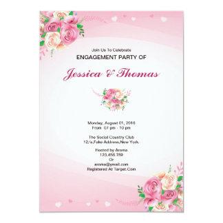 Romantische BlumenVerlobungs-Party Einladung