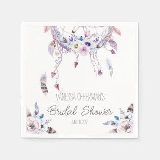 Romantische Dreamcatcher Boho Brautparty-Serviette Serviette