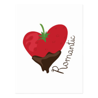 Romantische Erdbeere Postkarte