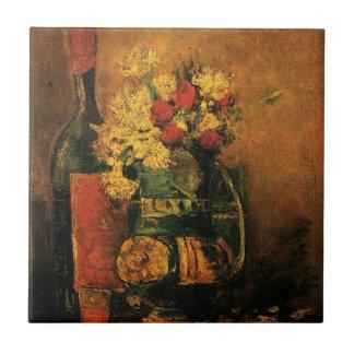 Romantische feine Kunst Van Gogh mit Rosen und Keramikfliese