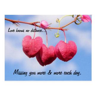 Romantische Fernbeziehung-Postkarte Postkarte