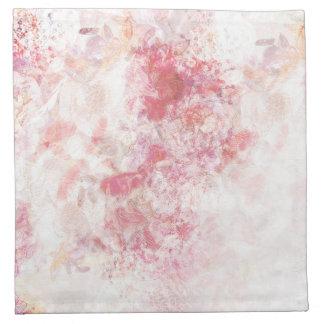 Romantische Frühlings-Rosa-Blumen, die Stoffserviette