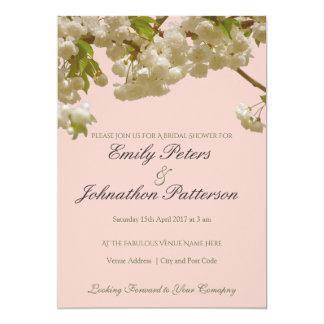 Romantische Frühlings-Sommer-Kirschblüten-Hochzeit 12,7 X 17,8 Cm Einladungskarte