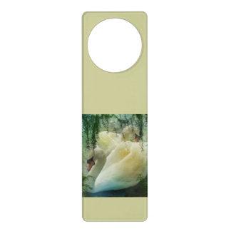 Romantische Frühlings-Swan See-Weiß-Schwäne Türanhänger