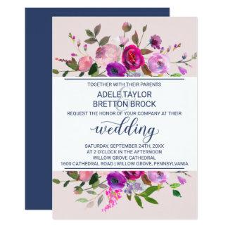 Romantische Garten-Hochzeit 12,7 X 17,8 Cm Einladungskarte