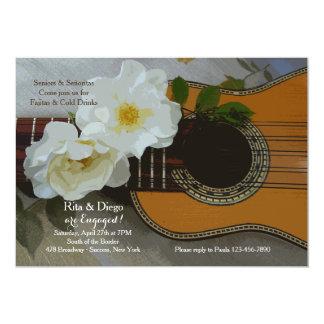 Romantische Gitarren-Einladung 12,7 X 17,8 Cm Einladungskarte