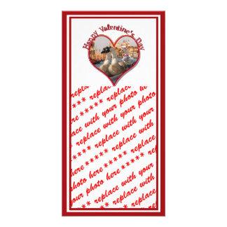 Romantische Gondel-Fahrt für Valentinstag Photo Karten