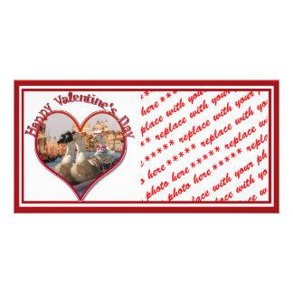 Romantische Gondel-Fahrt für Valentinstag Bilderkarten