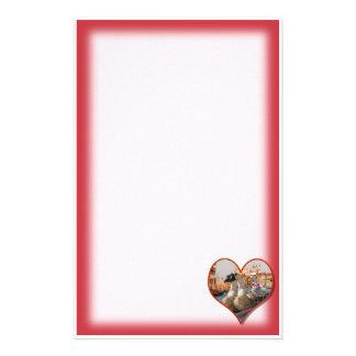 Romantische Gondel-Fahrt für zwei Gänse Briefpapier