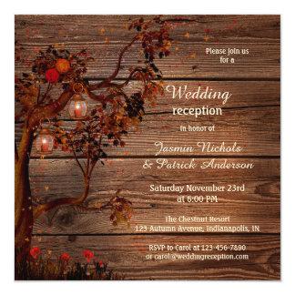 Romantische Hochzeit im Herbsts-Empfangs-nur Karte
