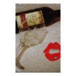 Romantische i-Liebe-Wein-Malerei Druckpapiere