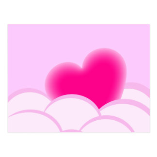 Romantische Illustration mit Herzen und Blasen Postkarte