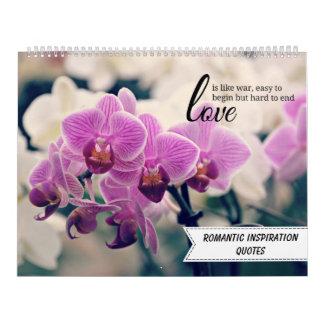Romantische inspirierend Zitate Wandkalender