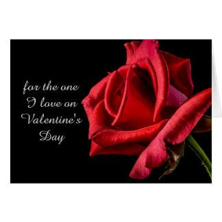 Romantische Karte Rote Rosevalentines Tages