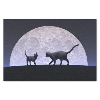 Romantische Katzen Seidenpapier