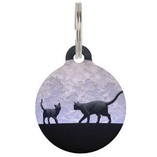 Romantische Katzen Tiernamensmarke