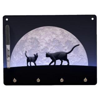 Romantische Katzen Trockenlöschtafel Mit Schlüsselanhängern