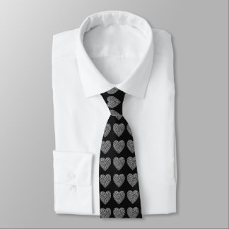 Romantische kleine Diamant-Liebe-Herzen Krawatte