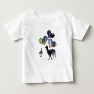 Romantische Lama-Kunst Baby T-shirt