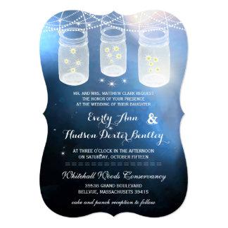 Romantische Leuchtkäfer-Weckglas-Hochzeit Einladungskarte